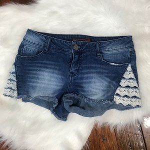 BUNDLE ONLY crocheted detail shorts